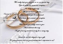 Wedding Gift Cash Gift List Poems Kelly U0027s Card Creations