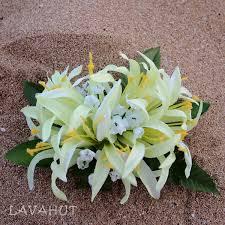 flower hair clip spider green hawaiian flower hair clip lavahut