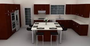 kitchen island breakfast table stunning contemporary kitchen with dark brown counter table top