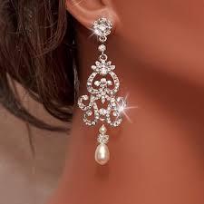 wedding earrings chandelier best ivory pearl wedding earrings products on wanelo
