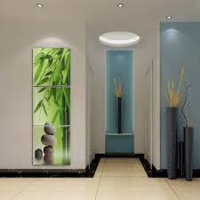 online get cheap mirror framed artwork aliexpress com alibaba group 3 pieces green bamboo stone modern home wall decor canvas picture art hd print painting on