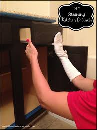 Refinishing Kitchen Cabinets With Stain Restaining Kitchen Cabinets A Darker Color Roselawnlutheran