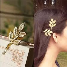2 pcs vintage gold hair pins solid korea alloy plated hair