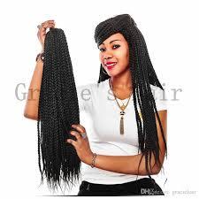 box braids hairstyle human hair or synthtic african hair braiding synthetic box braids hair extension havana