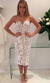 lace dresses special affair white beige lace spaghetti bustier v neck