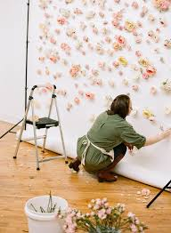 inspiration how to make a floral backdrop floral wall