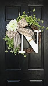 Door Monogram Decoration 82 Best Wreath Obsession Images On Pinterest Doors Floral