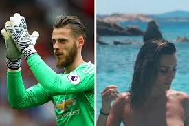 bare breasted manchester united s david de gea s stuns in bare breast