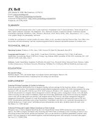 Technical Writing Resume Examples by Writers Resume Example Writing Resumes Government Jobs Sample