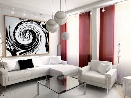 Simple Living Room And Lighting by Living Room Curtain Ideas For Bay Windows Wall Mirror Modern