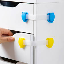 Child Proofing Cabinet Doors 4pcs Plastic Baby Safety Protection Child Locks Cabinet Door Baby