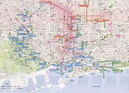 Barcelona Metro Map by Barcelona Tourist Map Barcelona U2022 Mappery