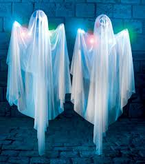 halloween light up ghost 5 foot hanging decoration w lights prop
