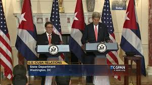 Cuban Flag Meaning Secretary State Kerry Cuban Foreign Minister Rodriguez Parrilla