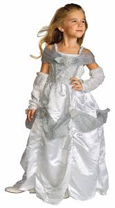 wedding dress costume rubie s child s snow costume white medium us