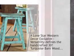 Barnwood Bar Stools Turquoise Barn Wood Bar Stool 30 Inch Lonestarwesterndecor Com