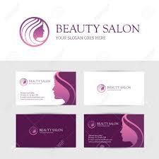 business card design template for beauty or hair salon spa