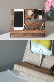 diy wood charging station oak nightstand valet wooden phone stand phone charging dock