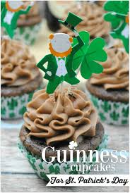 guinness cupcakes with sweet cream chocolate frosting