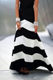 2017 black and white striped maxi dress backless dress summer