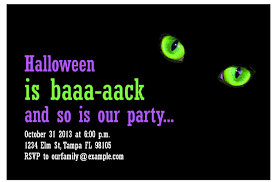 free halloween birthday party invitations halloween party invitations halloween party template