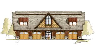 a frame house plans with garage four oaks carriage house timber frame house plans rustic house