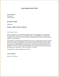 lease agreement letter template word u0026 excel templates