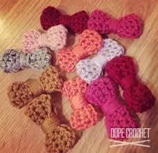 crochet hair bows crochet hair bows by dopecrochet dope crochet