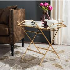 removable tray top table misae antique gold leaf tray side table antique gold and products