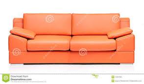 Orange Leather Chair Image Of A Modern Orange Leather Sofa Stock Image Image 11257661