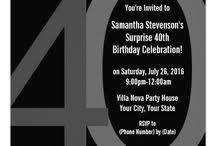40th birthday party invitations for men oxsvitation com
