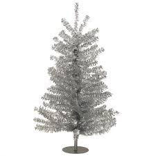 silver tinsel christmas tree 18 inch miniature silver tinsel christmas tree kurt s adler