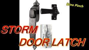 larson storm door replacement glass screen or storm door latch youtube