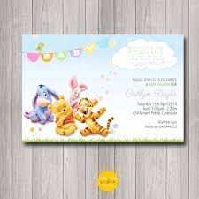 printable custom baby shower invitation winnie the pooh neutral