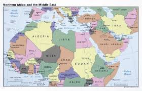 Blank Political Map Of Africa by Large Political Map Of North Africa And The Middle East U2013 1990