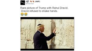 Donald Meme - donald trump looking fondly at the western wall in jerusalem