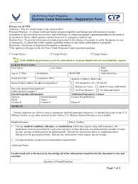 summer camp registration form 2 free templates in pdf word