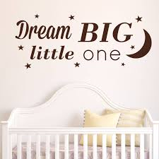 children s wall stickers wall stickers personalised baby s name wall sticker dream big little one wall sticker