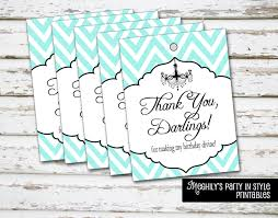 breakfast at tiffany u0027s thank you tags instant