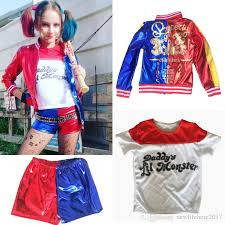 kid u0027s squad harley quinn cosplay costume full set