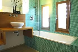 Wooden Bathroom Wall Cabinets Wood Wall Bathroom Green Tiled Bathroom With Wood Cantilever