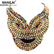 accessories collar necklace images Manilai boho jewelry fashion multicolor candy beads collar jpg