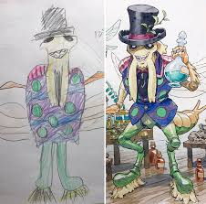 this dad turns his sons u0027 doodles into anime drawings and they u0027re f