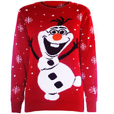 rudolph sweater clearance sale womens novelty rudolf olaf frozen