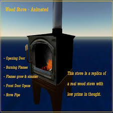 Franklin Fireplace Stove by Second Life Marketplace Franklin Style Wood Burning Stove