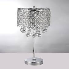 Small Nightstand Table Chandelier Night Stand Lamp With Round Crystal Bedroom Nightstand
