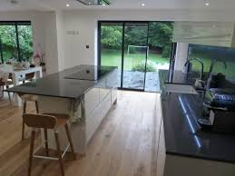 white gloss and dove grey kitchen fitted in welwyn hertfordshire