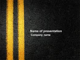 Road Powerpoint Template road marking powerpoint template backgrounds 03971