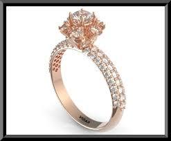 flower shaped rings images Round brilliant moissanite flower shaped engagement ring vidar jpg