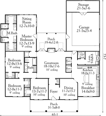 traditional style house plan 4 beds 2 50 baths 2465 sq ft plan